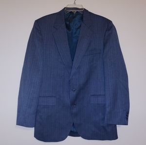❤Mens Navy striped suit jacket